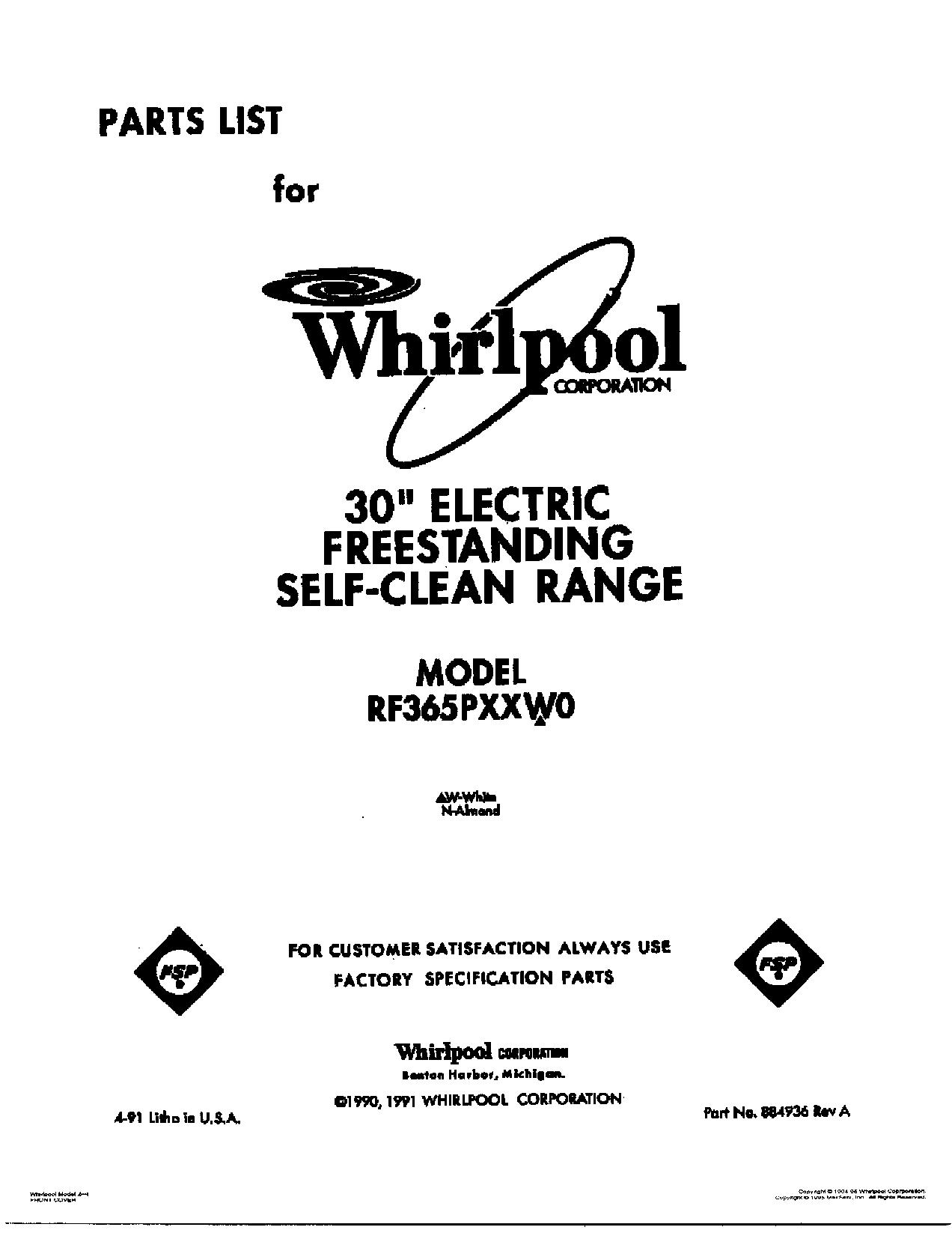 RF365PXXW0